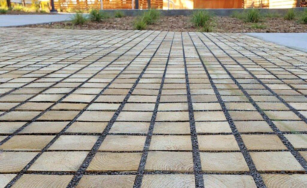 Outdoor sustainable green pavers