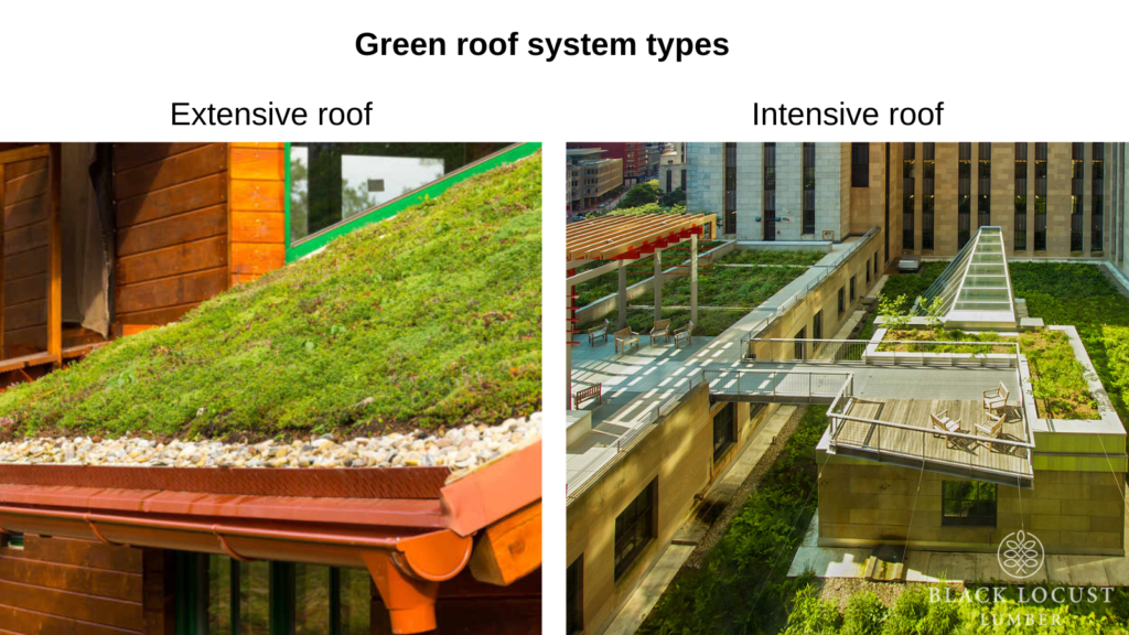 green roof system types